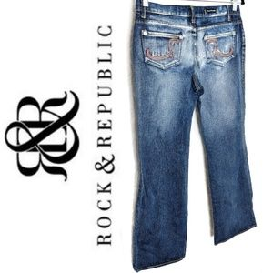 Rock n Republic Rainbow R Pocket Retro Bootcut -30